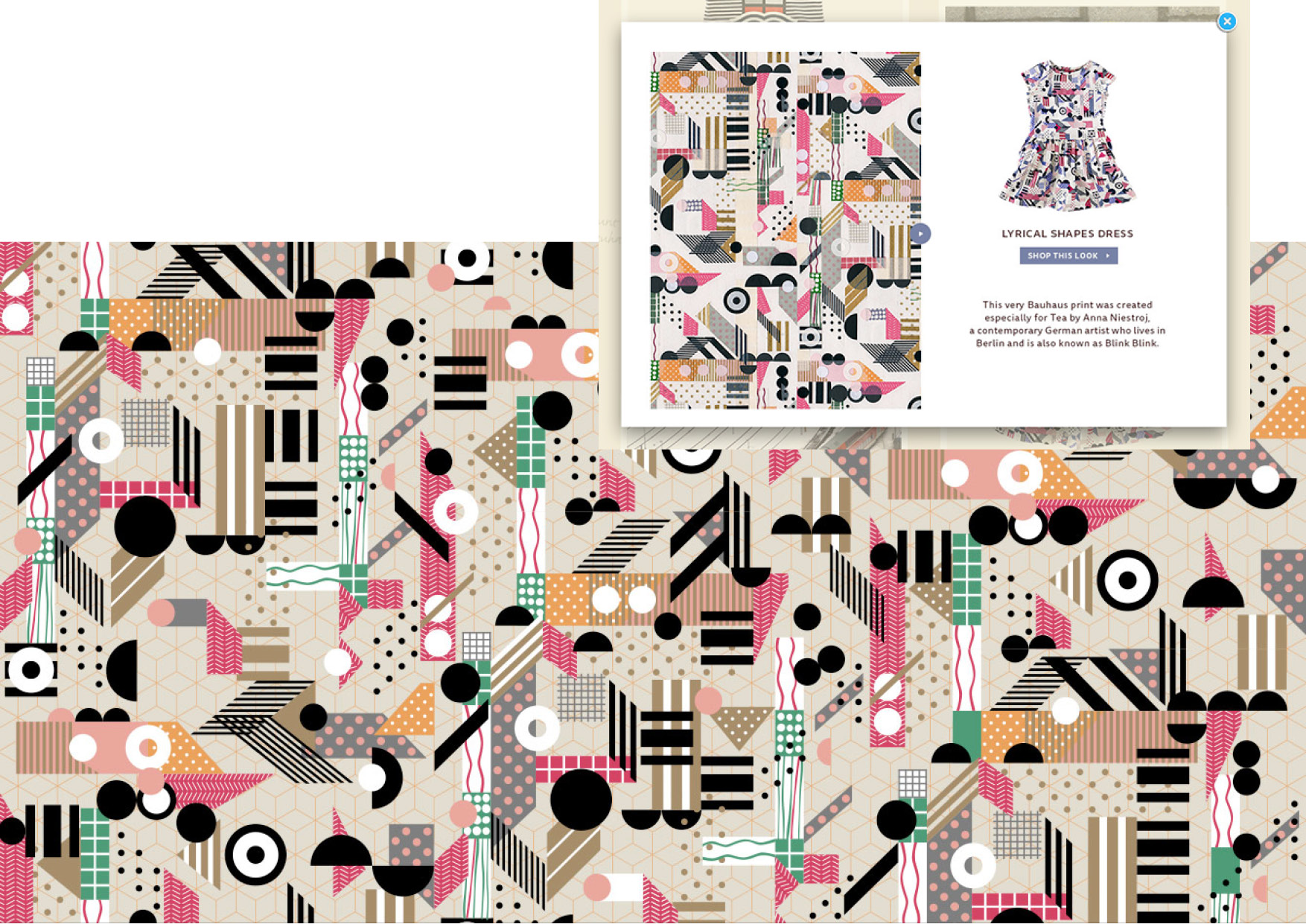 Tea Collection Anna Niestroj - Monster Patterns Pattern Design Studio Berlin Germany Deutschland Muster Design